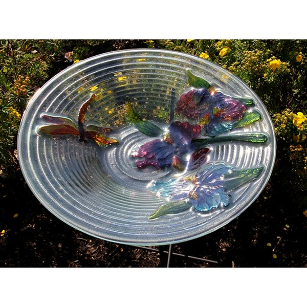 Dragonfly and Flower Spring Garden Birdbath by Northlight Seasonal