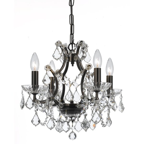 Maira 4 - Light Candle Style Classic / Traditional Chandelier with Wrought Iron Accents by House of Hampton House of Hampton