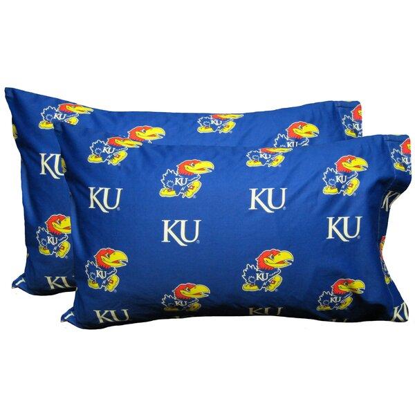 NCAA Kansas Jayhawks Pillowcase (Set of 2) by College Covers
