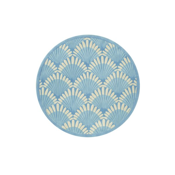 Alex Hand-Tufted Blue/White Area Rug by Highland Dunes