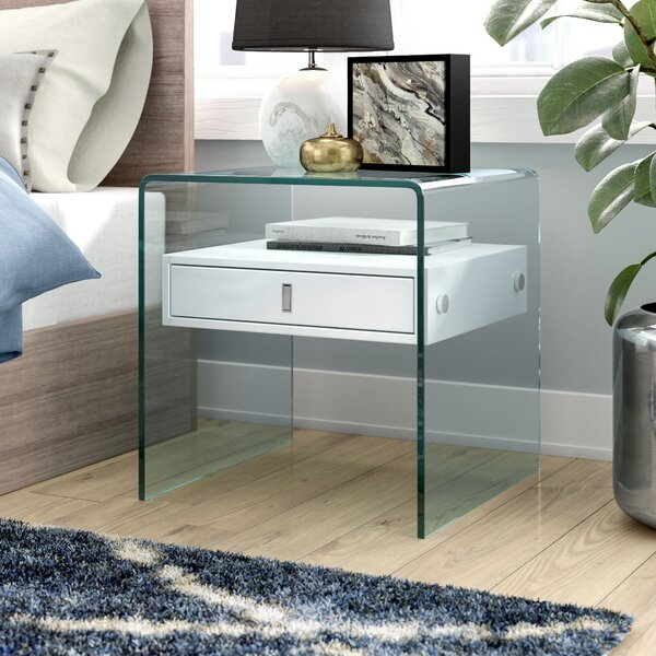 Joaquin 1 Drawer Nightstand by Wade Logan