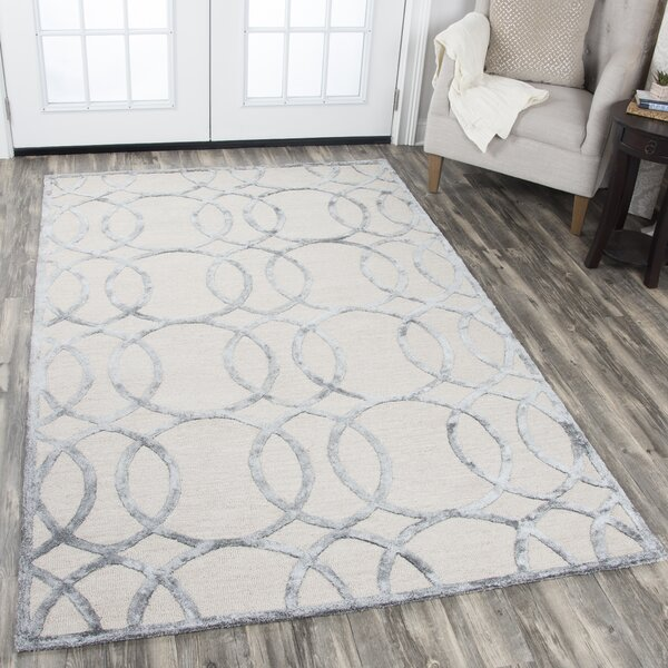 Fabian Hand Tufted Wool Gray Area Rug by Mercer41