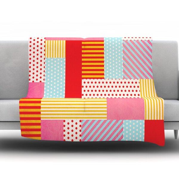 Geometric Pop by Louise Machado Fleece Throw Blanket by KESS InHouse