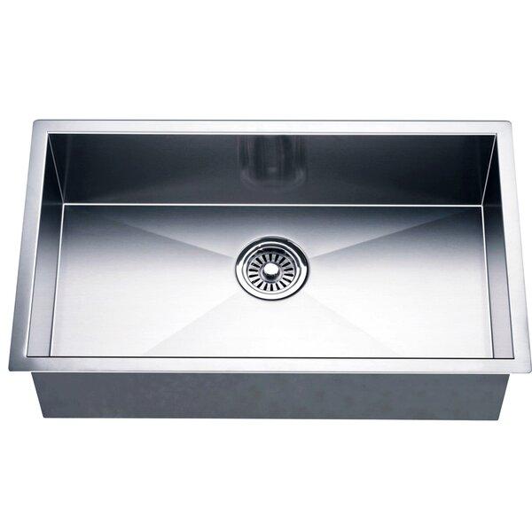 26 L x 18 W Under Mount Single Bowl Square Kitchen Sink by Dawn USA