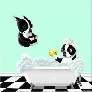 'Bath Time' by Brian Rubenacker Graphic Art Print by East Urban Home
