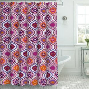 Compare prices Zemamra Fabric Weave Textured Shower Curtain Set By Bungalow Rose