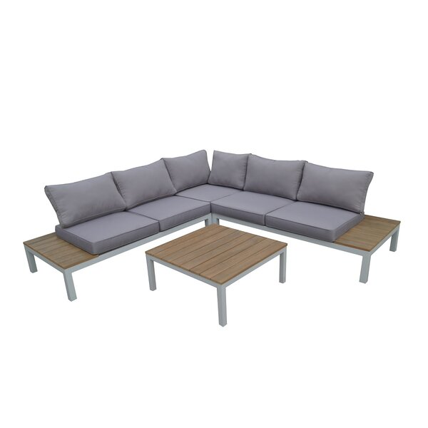 Celio 4 Piece Sectional Set with Cushions by W Unlimited