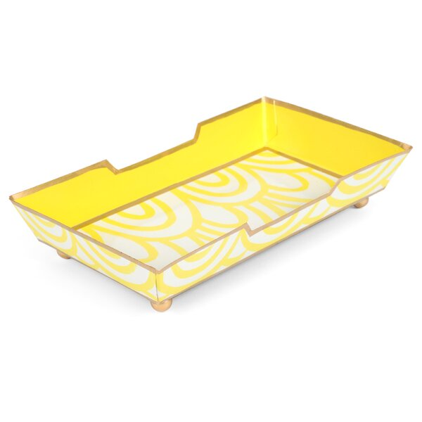 Cassie Guest Towel Tray in Yellow by Malabar Bay, LLC