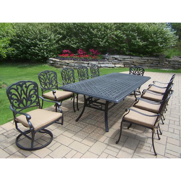 Bosch 102 x 46 11pc Dining Set with Cushions by Darby Home Co