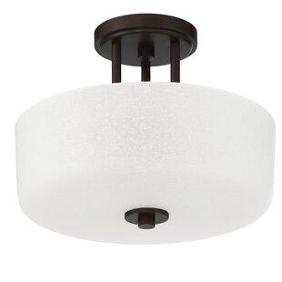Best Price Somes 3-Light Semi-Flush Mount By Sunset Lighting