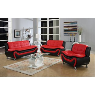 Tolar Faux Leather Living Room Set by Latitude Run®