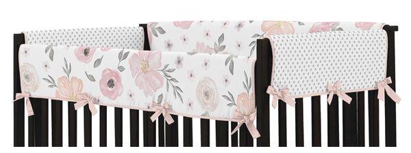 Watercolor Floral Crib Rail Guard Cover by Sweet Jojo Designs