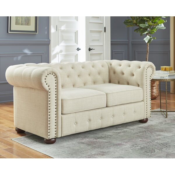 Champlin Chesterfield Loveseat by House of Hampton