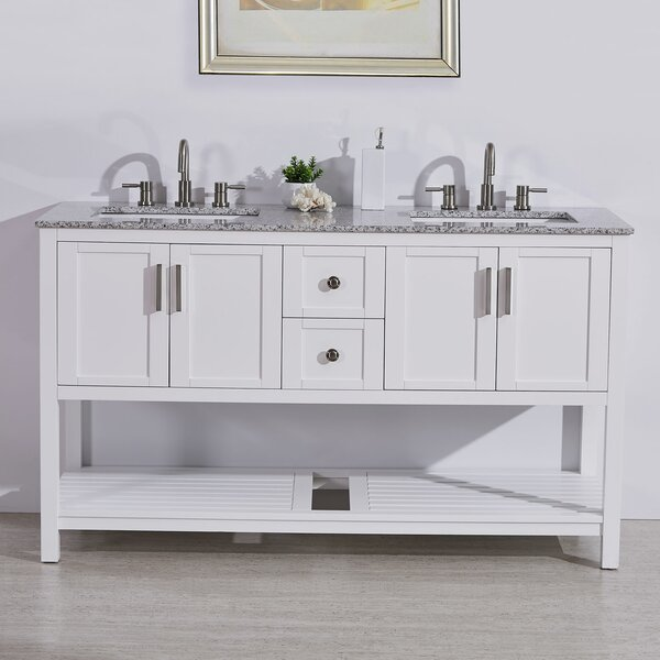 Kristine 60 Double Bathroom Vanity Set by Highland Dunes