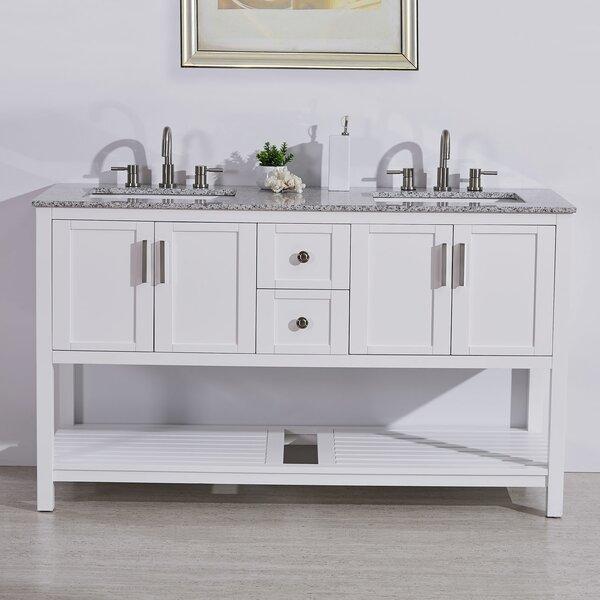 Kristine 60 Double Bathroom Vanity Set by Highland Dunes