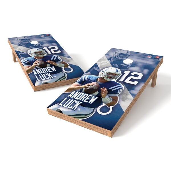 NFLPA Colts Andrew Luck Cornhole Game Set by Tailgate Toss