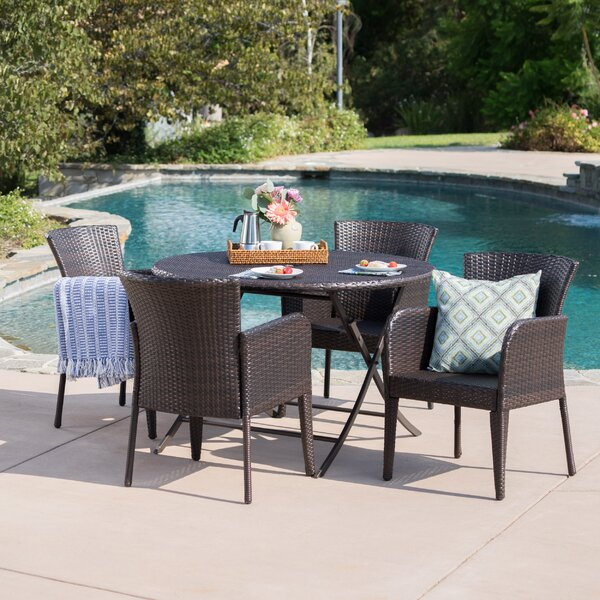 Nique Outdoor Wicker 5 Piece Dining Set by Orren Ellis