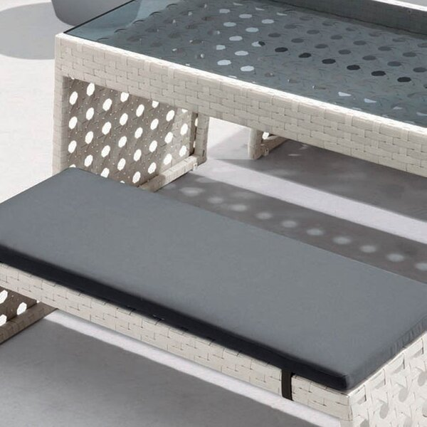 Happy Hour Resin Wicker Dining Bench by 100 Essentials