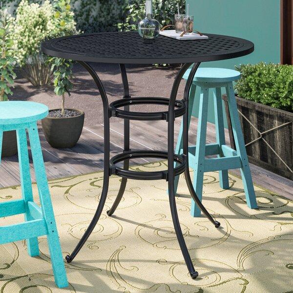 Salia Aluminum Bar Table by Fleur De Lis Living