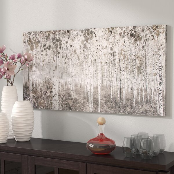 Neutral Watercolour Graphic Art Print On Wrapped Canvas By Andover Mills.