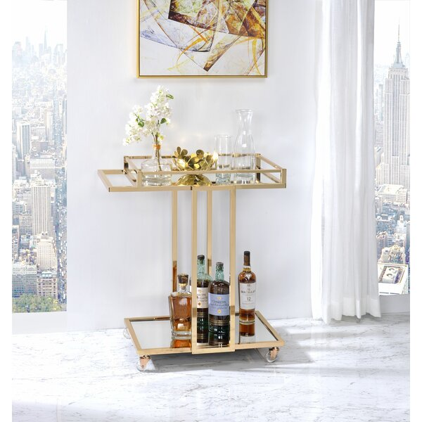 Todmorden Bar Cart by Everly Quinn Everly Quinn