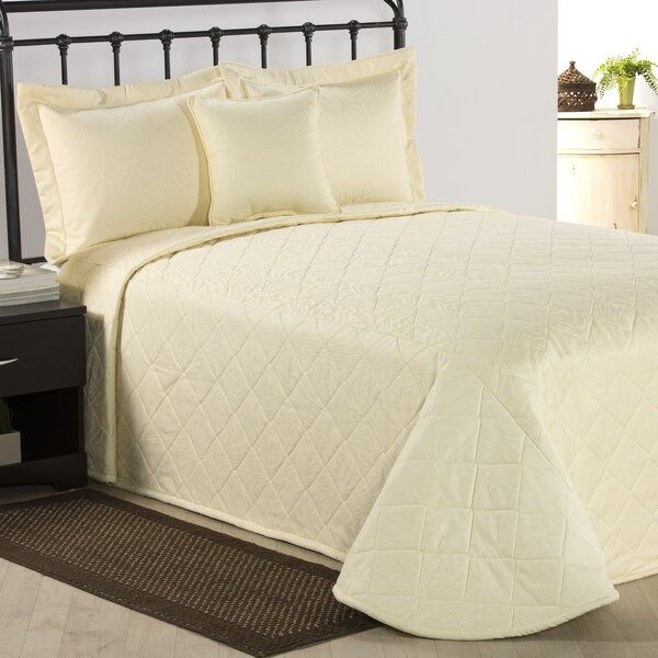 Solid Cream Queen Bedspread