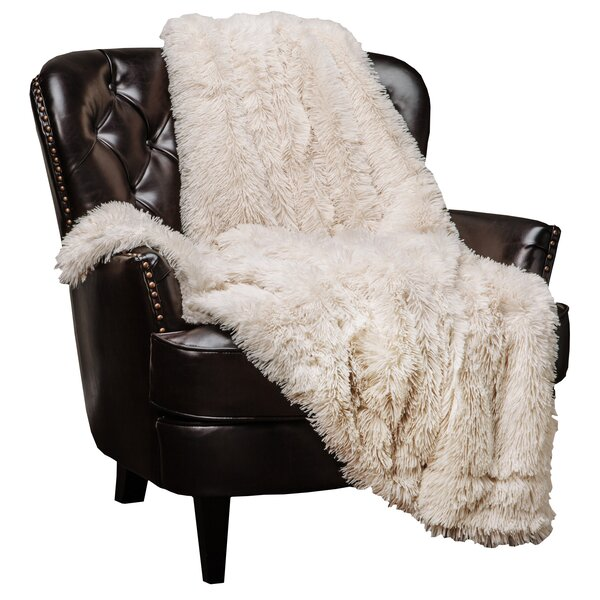 Roth Shaggy Super Elegent Sherpa Long Fur Throw By House Of Hampton.