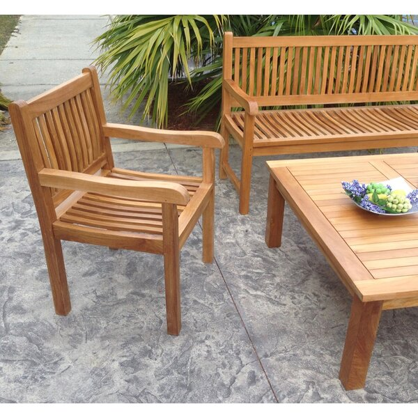 Quinlan Triple Teak Garden Bench by Darby Home Co Darby Home Co