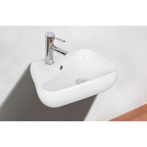 Ceramic Specialty Bathroom Sink with Faucet and Overflow by American Imaginations