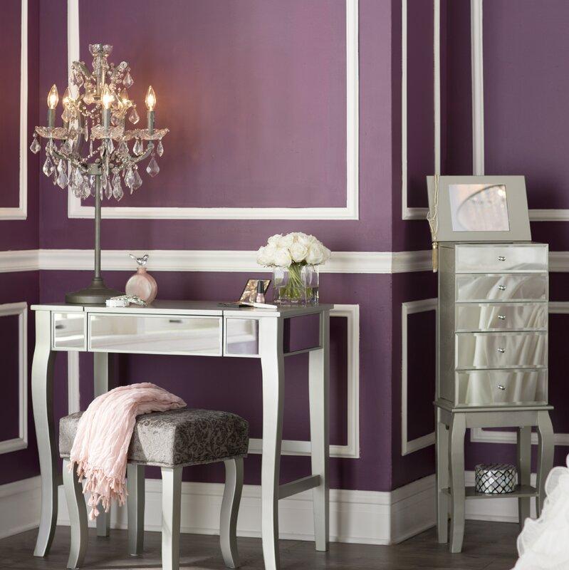 Willa arlo interiors strattenborough vanity set with - Willa arlo interiors keeley bar cart ...