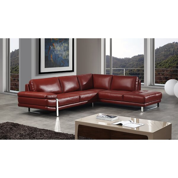Find Out The New Hennig Leather Sectional by Orren Ellis by Orren Ellis