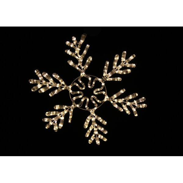 White Rope Lit Snowflake Ice Christmas Decoration by Queens of Christmas