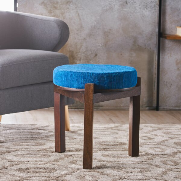 Frank Fabric Accent Stool by Bungalow Rose
