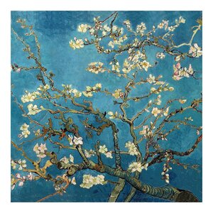 'Almond Blossoms' by Van Gogh Painting Print on Wrapped Canvas by Oriental Furniture