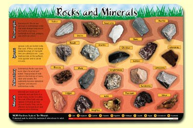 Rocks and Minerals Placemat (Set of 4) by Painless Learning Placemats