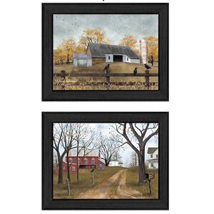 'Country Roads' 2 Piece Framed Painting Print Set by August Grove