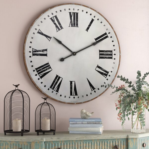 Nowata 40 Metal Wall Clock by Laurel Foundry Modern Farmhouse