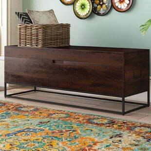 Top Reviews Rancho Mirage Wood Storage Bench ByBloomsbury Market
