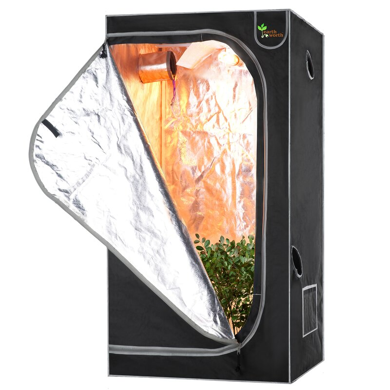 Mylar Hydro Shanty Hydroponics Indoor Grow Tent  sc 1 st  Wayfair & HOMEbox Vista Indoor Greenhouse u0026 Reviews | Wayfair