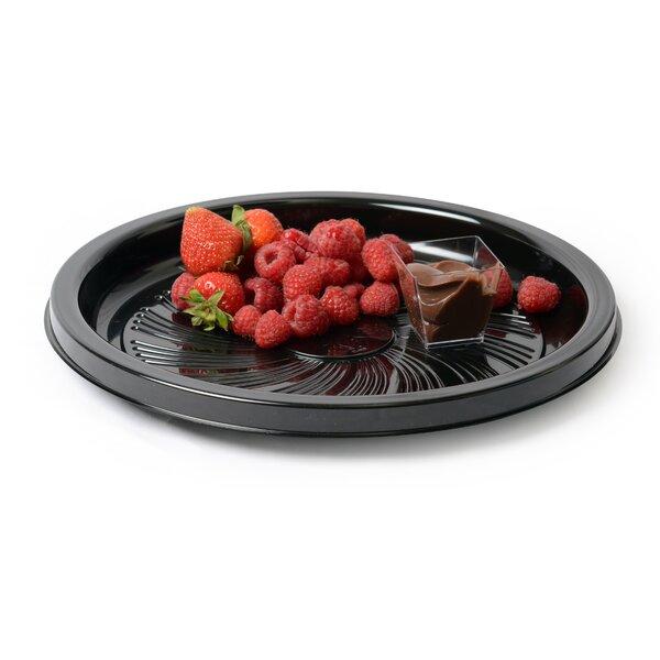 Platter Pleasers Round Majestic Style Thermoform Serving Tray (Set of 25) by Fineline Settings, Inc