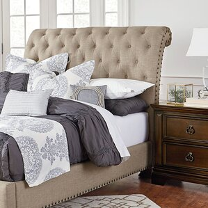 Parthena Upholstered Sleigh Headboard by Darby Home Co