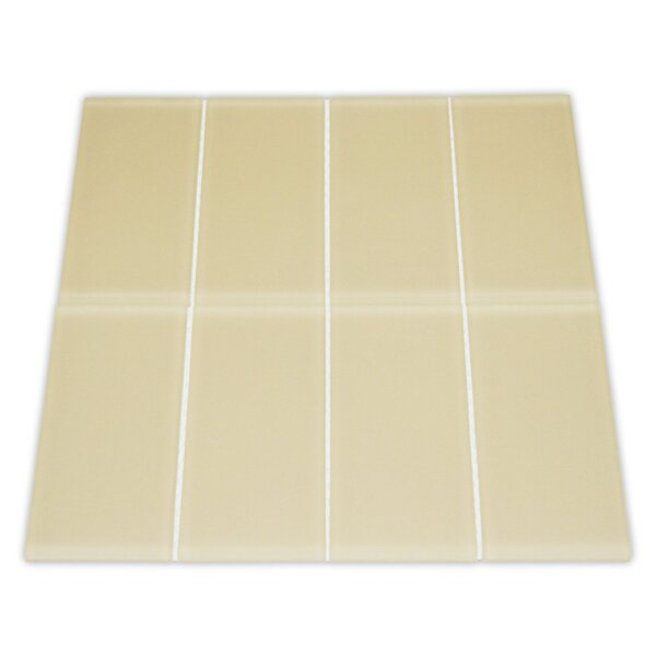 Earth 3 x 6 Glass Mosaic Tile in Khaki by CNK Tile