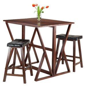 Harrington 3 Piece Pub Table Set by Luxury Home