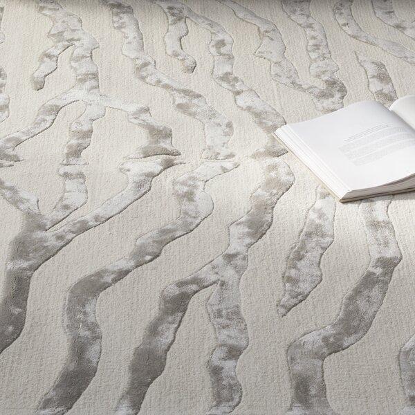 Dodgson Hand-Tufted Gray/Ivory Area Rug by Mercer41