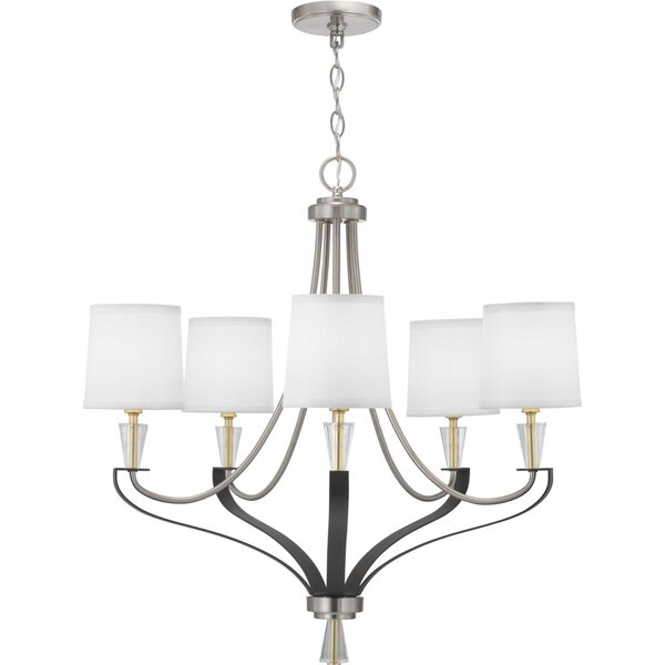Alidade 5 - Light Shaded Empire Chandelier by Wrought Studio Wrought Studio