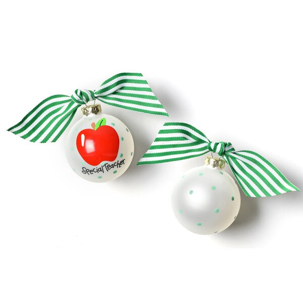 Special Teacher Glass Ball Ornament by Coton Colors