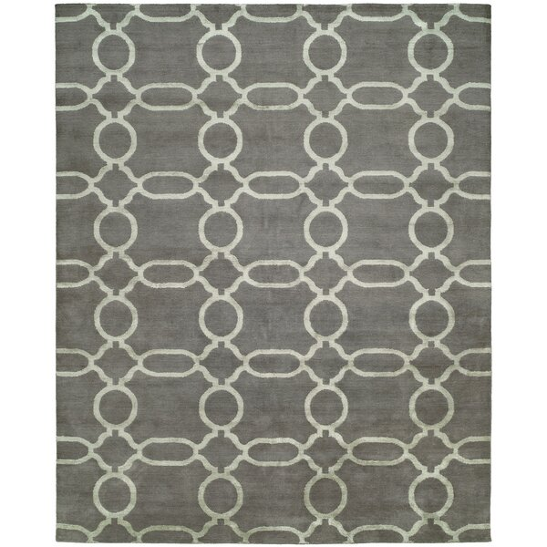 Avila Hand-Knotted Wool Gray Area Rug