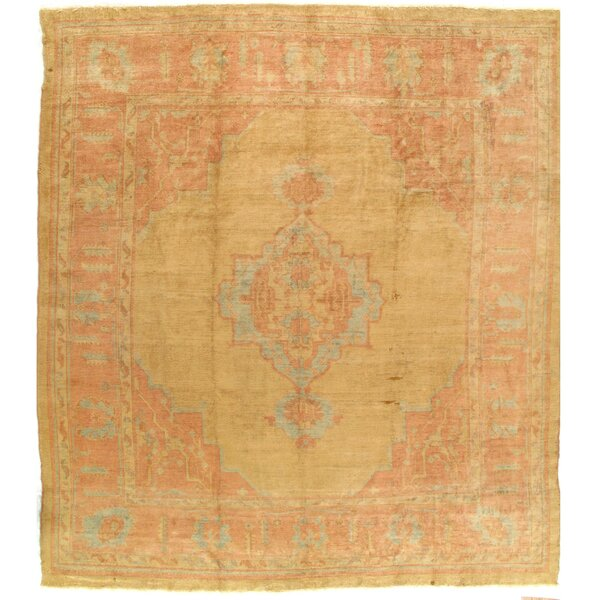 Doane Antique Angora Oushak Hand-Knotted Wool Yellow Area Rug