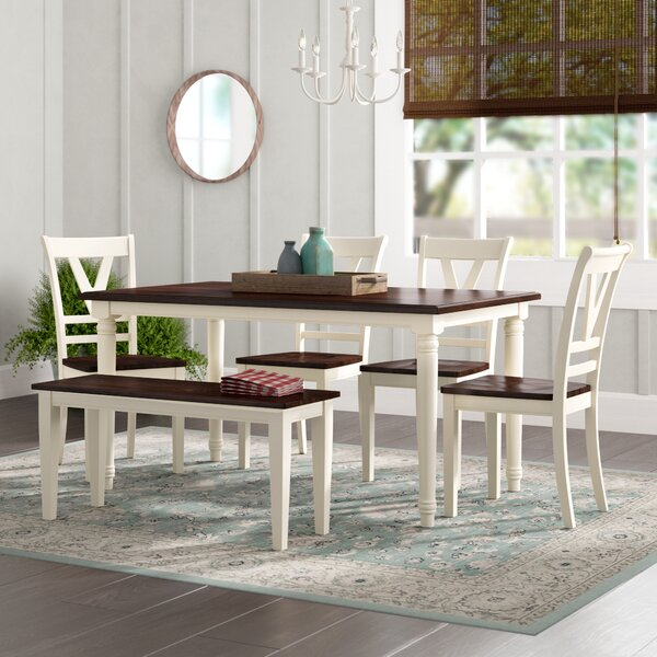 Patridge 6 Piece Solid Wood Dining Set by August Grove