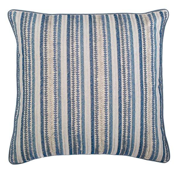 Ink Stripes Cotton Throw Pillow by Elisabeth York